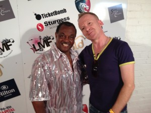 Robert Kool & The Gang Bell & Simon Britton on the Red Carpet at Leicester 1