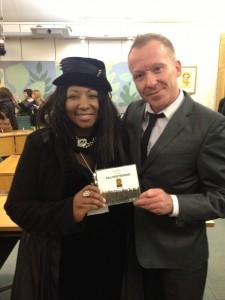Shara Nelson & Simon Britton in Parliament