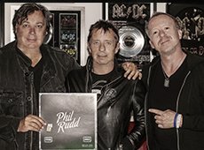 Alan Bellman with Phil Rudd & Simon Britton